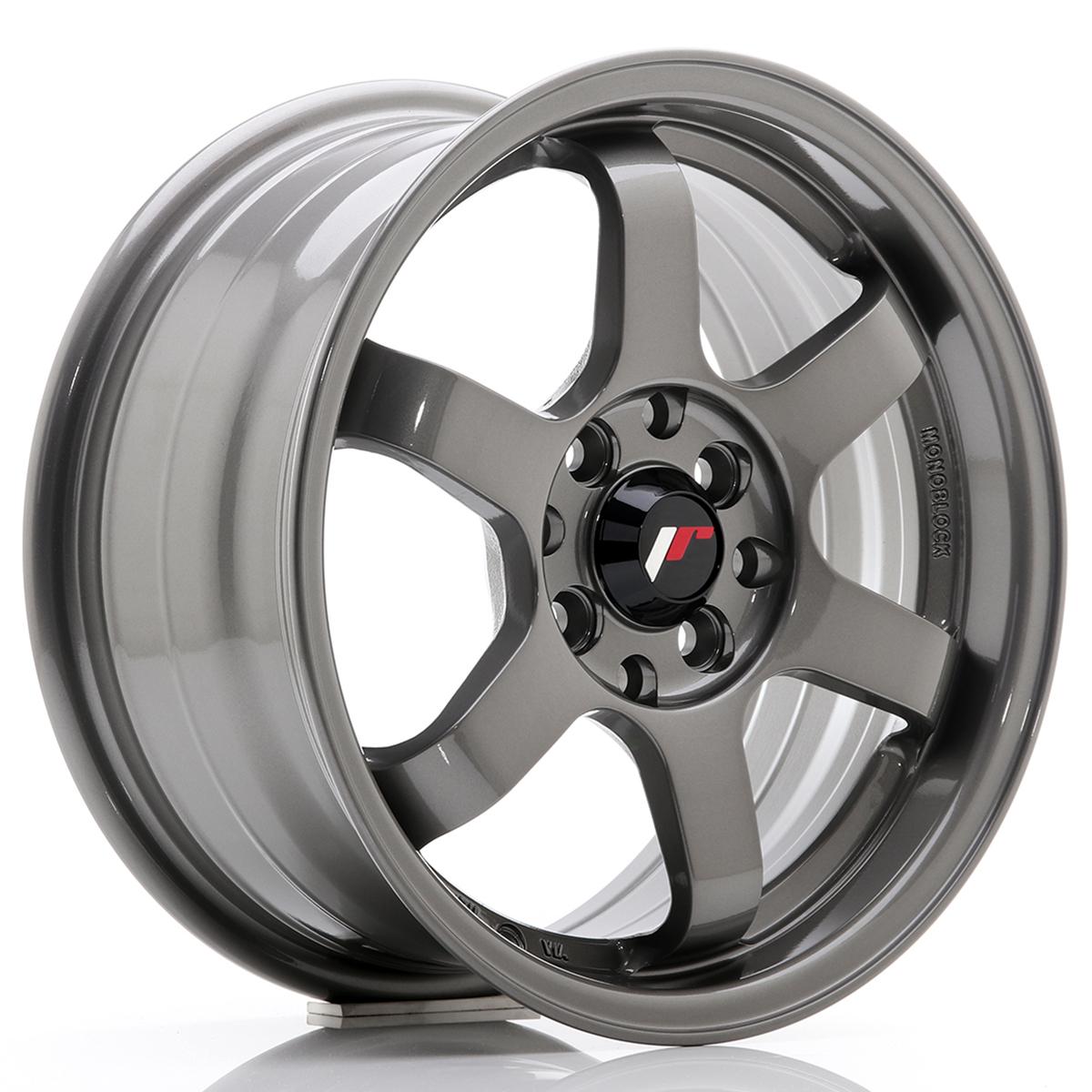 JR Wheels JR3 15x7 ET40 4x100/114 Gun Metal
