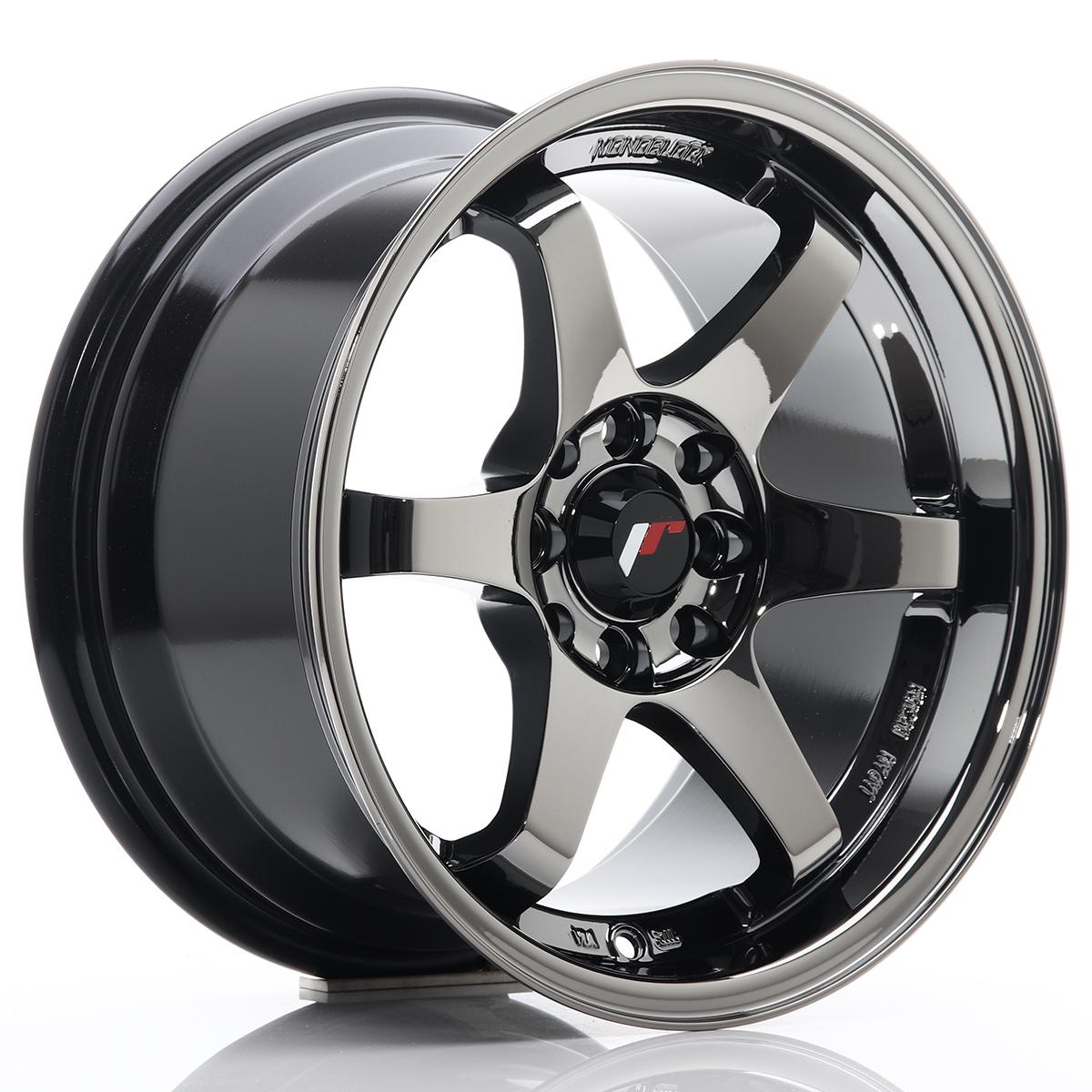 JR Wheels JR3 15x8 ET25 4x100/108 Black Chrome
