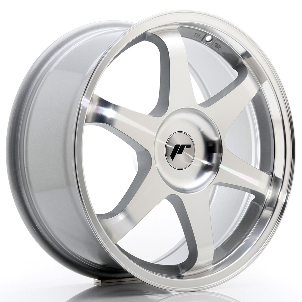JR Wheels JR3 18x8 ET35-45 BLANK Silver Machined Face